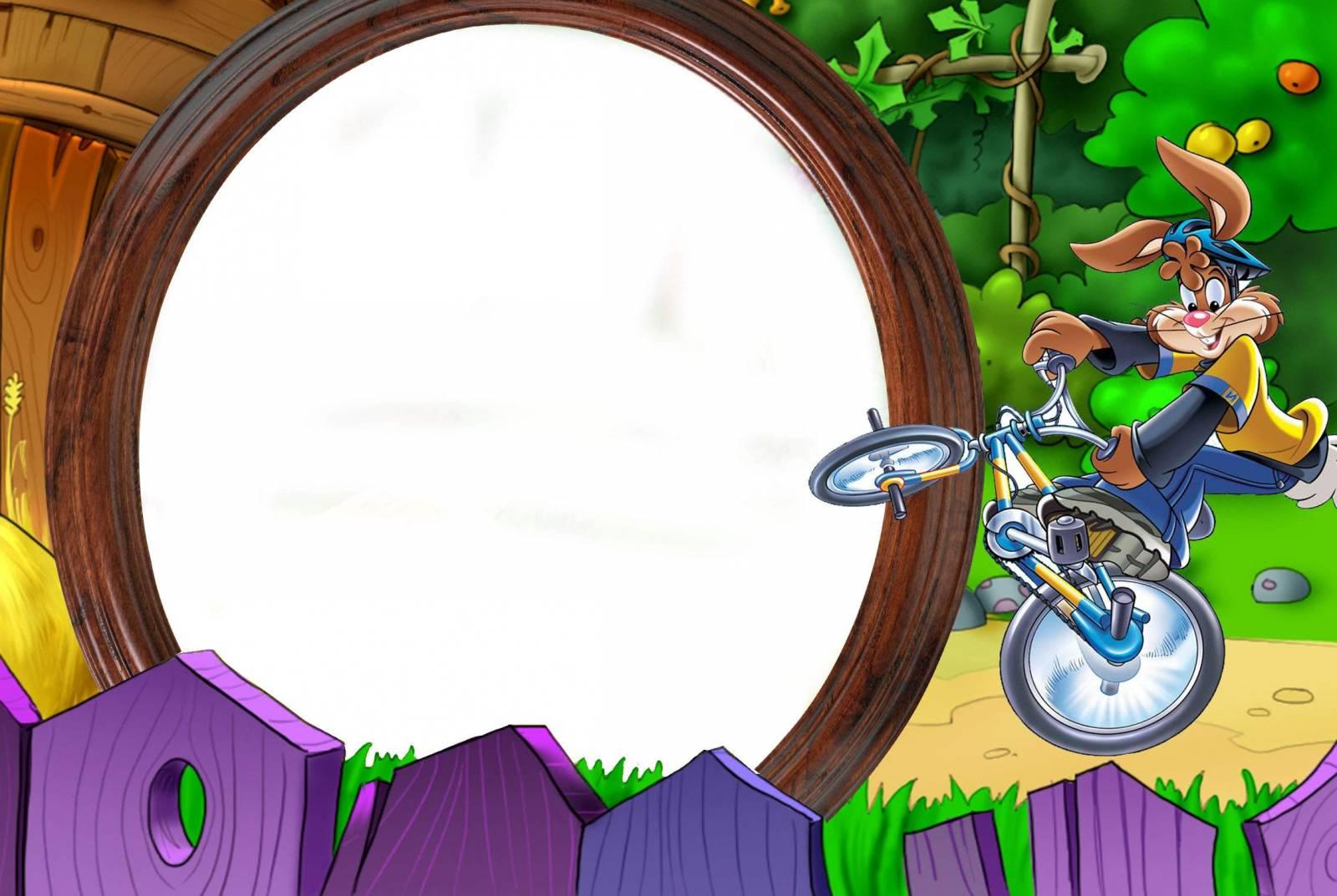Фото рамка для фотошопа человек на велосипеде 2